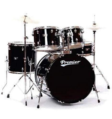Premier 6295BKL Olympic Rock Schlagzeug, 22 Zoll, Schwarz