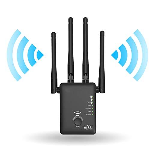 XAJGW AC1200 WiFi Repetidor/Enrutador/Punto de Acceso Amplificador de señal WiFi con Amplificador de Alcance inalámbrico Wi-Fi con Antenas externas Hot