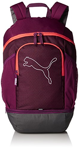 PUMA Echo Backpack Rucksack, Dark Purple-hot Coral, OSFA