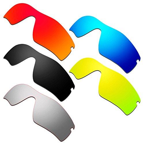 HKUCO Mens Replacement Lenses for Oakley Radar Path Red/Blue/Black/24K Gold/Titanium Sunglasses