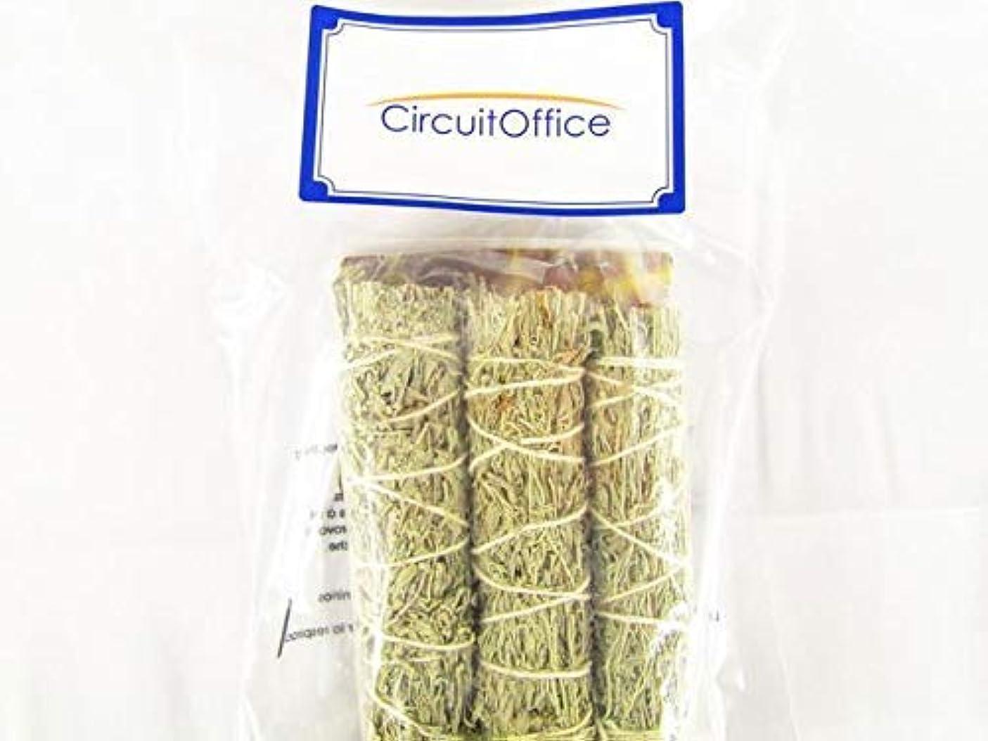 良さ銀行くつろぐCeremonial Smudge Sticks Incorporate Mountainセージ、杉、およびSweetgrass , 3?- Pack 4?