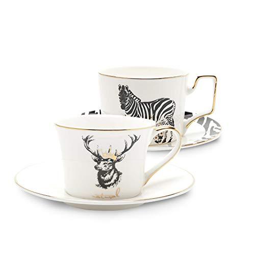 HRDZ Bone China European Small Luxury Coffee Cup Set Tazza Singola Tazza Regalo Tazza da tè pomeridiana