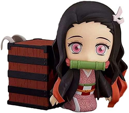 Demon Slayer Kamado Nezuko Q Version Nendoroid Toy Figura móvil con accesorios Muñeca de anime móvil Estatua de juguete Juego de dibujos animados Modelo de personaje Decoración de mesa Decoración