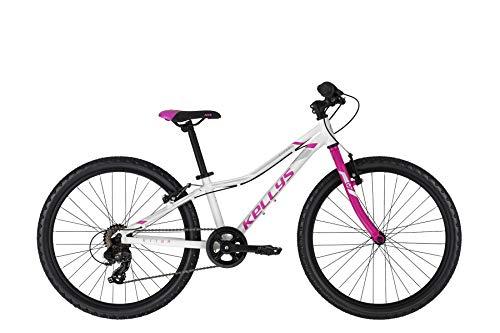 Kellys Kiter 30 24R Kinder & Jugend Mountain Bike 2021 (28cm, Weiß)