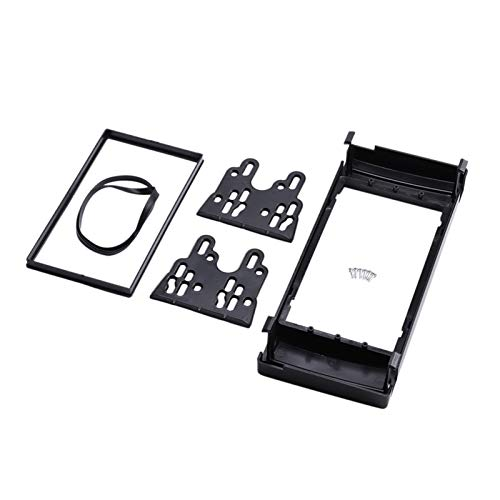 gis New Dash Mok Kit Adapter Trim Con Bisel Doble 2 DIN Radio Fascia, Ajuste Para BMW X5 (E53) 5 (E39) Panel De Marco De Fascia Estéreo (Color : Black)