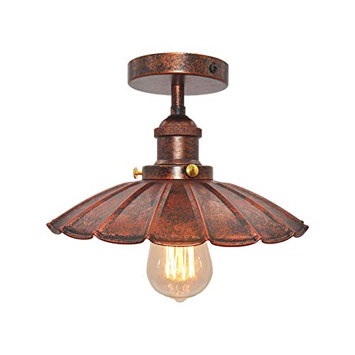 Huahan Haituo soffitto luce Modern Vintage Industrial Metal nero bronzo Loft Bar soffitto luce ombra...