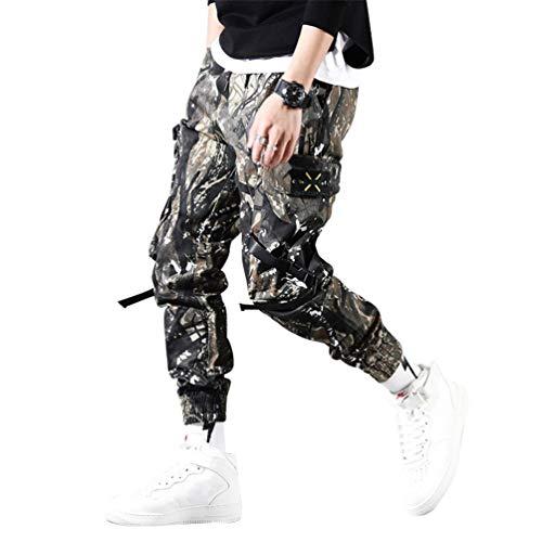 Herren Streetwear Hosen Hip Hop Jogginghose Jogger Hose Tactical Mens Pants Cargo Harem Pants Herren K603 A L