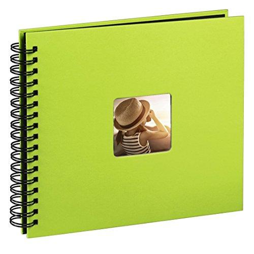 Hama Jumbo Fotoalbum, 36 x 32 cm, 50 schwarze Seiten, 25 Blatt, mit Ausschnitt für Bildeinschub, Fotobuch kiwi