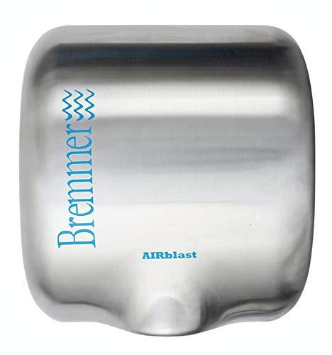 Bremmer Airblast Secamanos Eléctrico | Ecológico, de Alta Velocidad y Bajo Uso de Energía | Secadores de Mano | Secador de Manos Eléctrico | Secador Manos