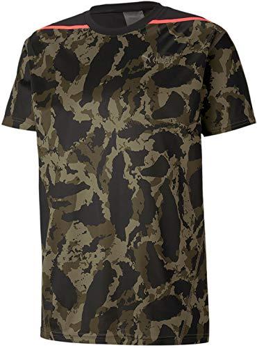 PUMA - Mens First Mile Camo Tee, Size: X-Large, Color: Burnt Olive/Camo Print