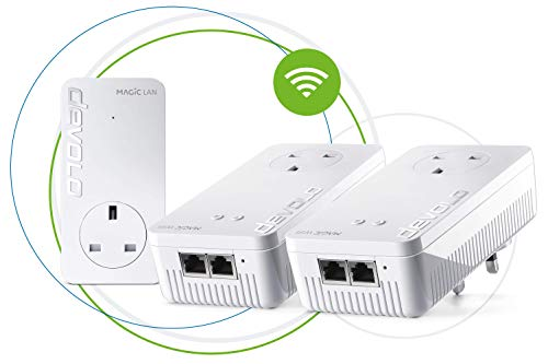 Devolo Magic 1 WiFi High Performance Powerline Whole Home WiFi Kit with Mesh WiFi, Up to 1200 Mbps Via Powerline,...