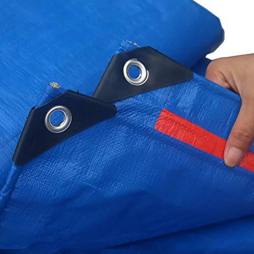 YXB dekzeil slijtvast zware tarps waterdichte tent trailer cover groot in meerdere maten FENGMING-yb (kleur : donkerblauw, grootte : 6×6m) 5×6m Donkerblauw