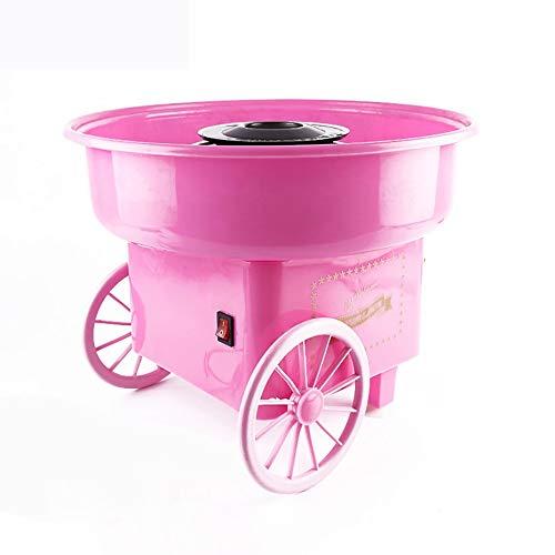 Retro Marshmallow Machine Mini tragbare Haushalts-Zuckerwatte-Maschine Stilvolle einfache Zuckerwatte-Maschine - Pink