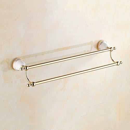 Handig Handdoekenrek Badkamer Hanger Set Handdoekrek European Style Stainless Steel Handdoekrek Gold Storage Shelf Sanitair Hardware Accessories, Hook (Size : Single Layer Glass Storage Rack)