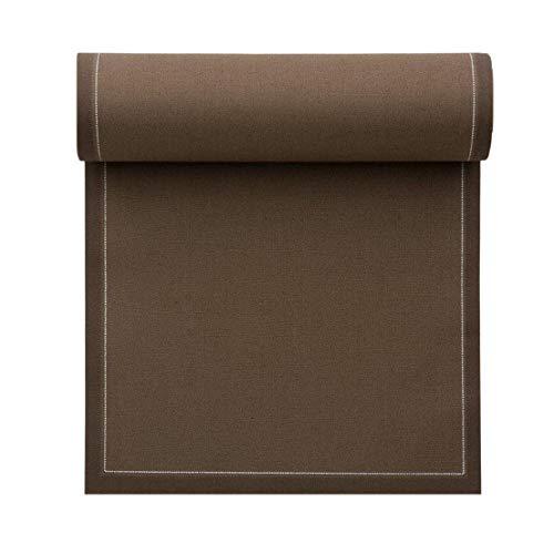 Serviette de table en coton 20x20cm - Idéale pour fête, anniversaire, cocktail - Rouleau de 25 serviettes - Taupe