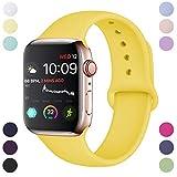 Hamile Compatible avec Apple Watch Bracelet 38mm 40mm, Sport en Silicone Souple...