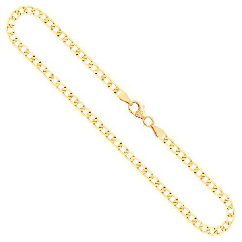 Goldkette, Panzerkette facettiert Gelbgold 333/8 K, Länge 50 cm, Breite 3.1 mm, Gewicht ca. 5.4 g, NEU