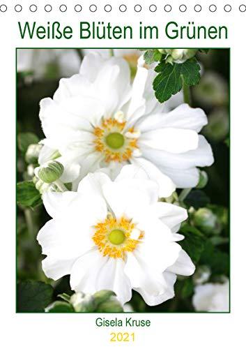 Weiße Blüten im Grünen (Tischkalender...