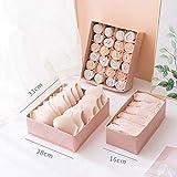 CAONIDAYE 3 unids/Set Caja de Almacenamiento de Ropa Interior de Moda de Varios tamaños Organizador de Armario de cajones para el hogar Sujetador Plegable Calcetines Estuche de Acabado Rosa