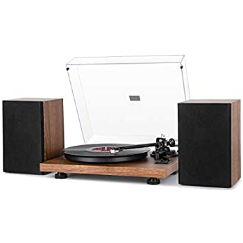 1byone Wireless Turntable Hi-Fi System with 36 Watt Bookshelf Speakers, Vinyl Record Player with Magnetic Cartridge review