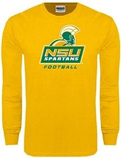 CollegeFanGear Norfolk State Gold Long Sleeve T Shirt 'Football'
