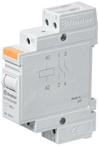Finder 222282304000PAS Installationsschütze, 230VAC, 2Schließer, 20A, Kontaktmaterial: AgSnO2