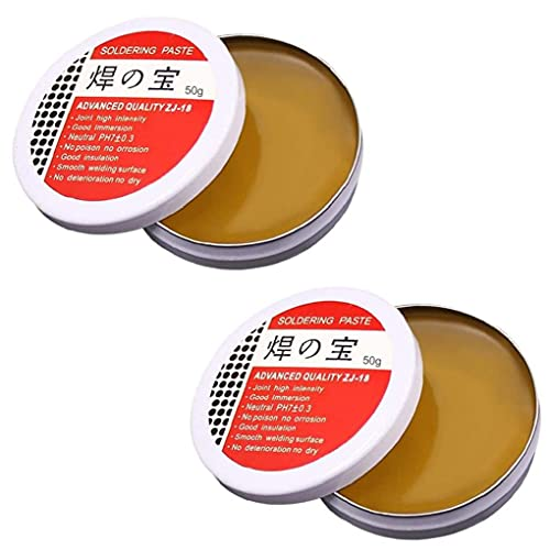 Solder Flux Tin Paste Ambiental 50g Rosada Herramienta de soldadura Accesorios de soldadura 2pcs, Productos industriales
