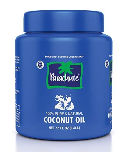 Parachute Coconut Oil Jar 15 Floz 444ml  100% Pure amp Natural Hair Oil Unrefined Expeller Pressed Cooking Oil