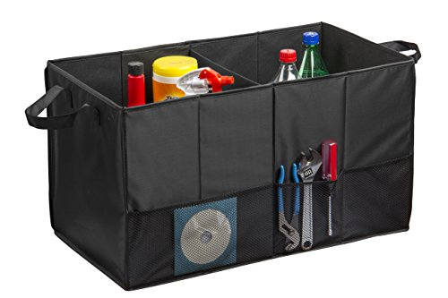 Auto Trunk Organizer, Multipurpose Folding Trunk Storage Organizer, Collapsible Car Organizer, Sturdy Organizer For Car, SUV, Van, and Truck With Dual Handles And Stiff Base Plates For Bottom Support
