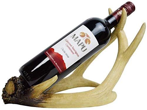 HJXSXHZ366 Estantería de Vino Bastidores de Vino, Vino de Almacenamiento en Rack de Terciopelo, Soporte de exhibición Tabla de la Resina, hogar del Marco Decorativo, Brown Estante de Vino pequeño