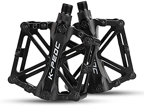 JZTOL Pedales De Bicicletas Bicicleta De Montaña Bicicleta De Carretera Pedales De Bicicletas Plataforma De Aleación De Aluminio Pedales De Bicicletas para Citybike, Bike Road, E-Bike, MTB & Trekking