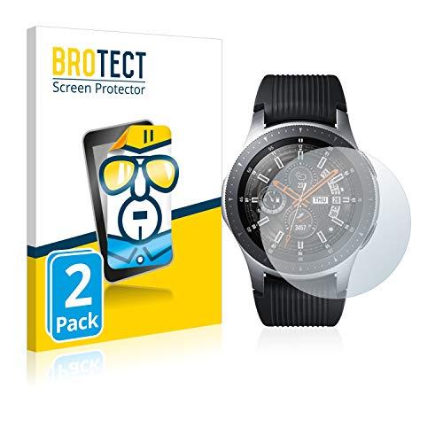 brotect Pellicola Protettiva Compatibile con Samsung Galaxy Watch (46 mm) Pellicola Trasparente (2 Pezzi) Anti-Impronte