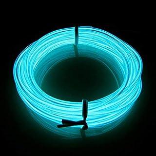 LERWAY Celeste Neón Iluminación Wire Tira de luz LED Light EL 3m para Decoración de Bicicletas Fiestas
