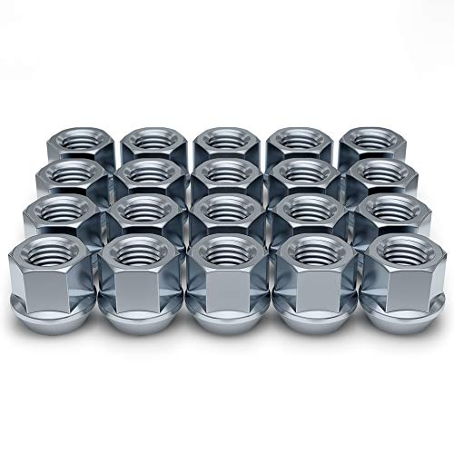 White Knight Wheel Accessories 1309-1S Zinc M14 x 1.50 Open End Bulge Acorn Lug Nut 20 Pack