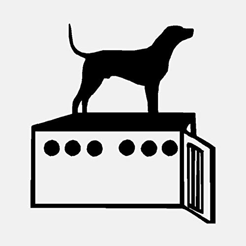 Hondenmand persoonlijkheid PVC muursticker sticker decoratie 50,9 cm * 55 cm