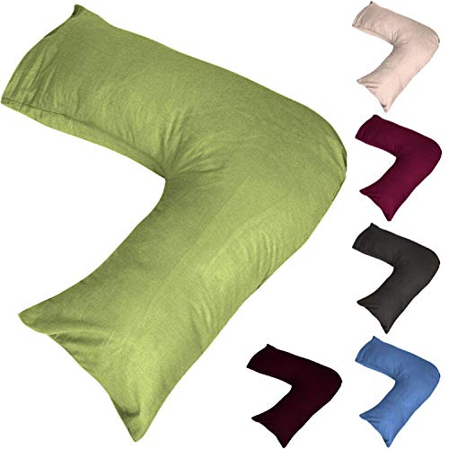 V Shape Pillowcase Pillow Case Cover For Orthopedic Nursing Pregnancy Pillows - Cream
