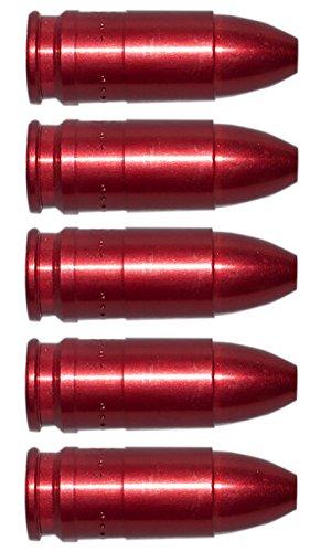 Flachberg Pufferpatronen 9mm Luger/para Aluminium Rot (5 Stück) Pufferpatrone 9 mm