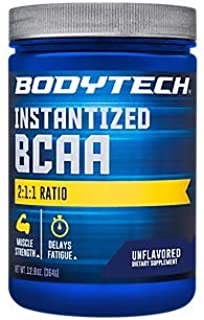 BodyTech BCAA (Branched Chain Amino Acid) Unflavored Optimal 2:1:1 Ratio Supports Muscle Recovery Endurance (12.5 Ounce Powder)