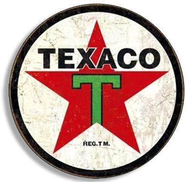 Round Vintage TEXACO Gas Sticker (Gasoline Logo Old Rat Rod)