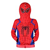 Jungen Spiderman Hoodie Cosplay Kostüm Reißverschluss Pullover Trainingsanzug Mantel Hose...