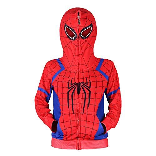 Jungen Spiderman Hoodie Cosplay Kostüm Reißverschluss Pullover Trainingsanzug Mantel Hose Geschenke für Kinder