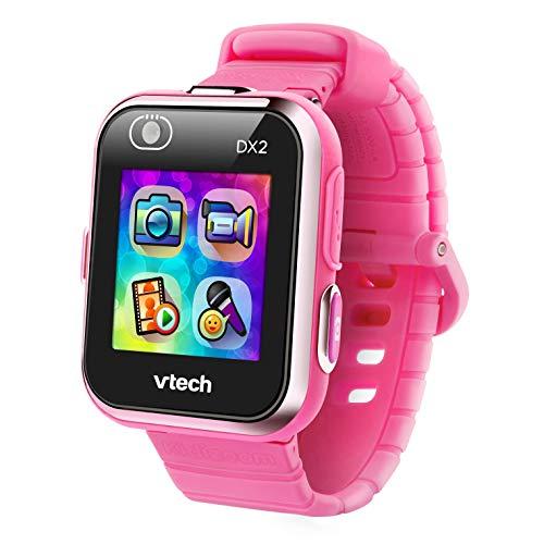 VTech - Kidizoom Smart Watch DX2, Reloj inteligente para niños, doble cámara de fotos, vídeos, juegos, color Rosa, Versión ESP (80-193857)