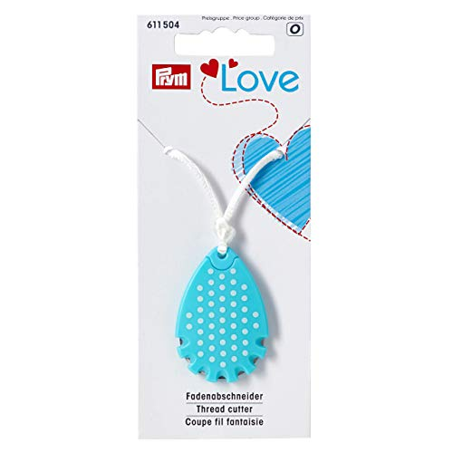 Prym Love Thread Cutter, Synthetic Material, Light Blue, 13.8 x 5.7 x 1.2 cm