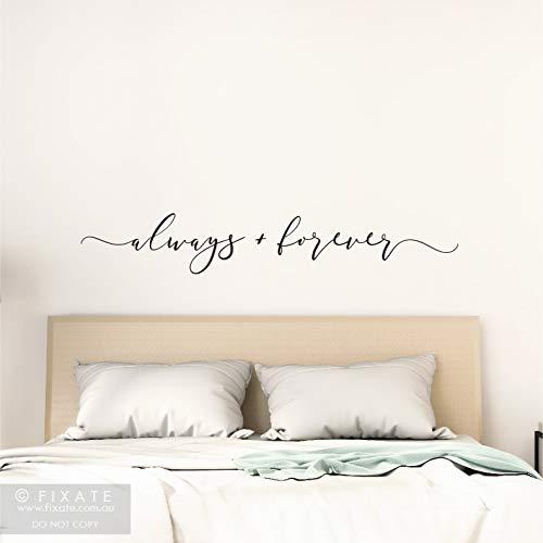 Immer und ewig über Bett Wandaufkleber Liebeszitat über Bett Wandtattoo Liebeszitat Aufkleber Schlafzimmer Wanddekoration über Bett Wanddekoration
