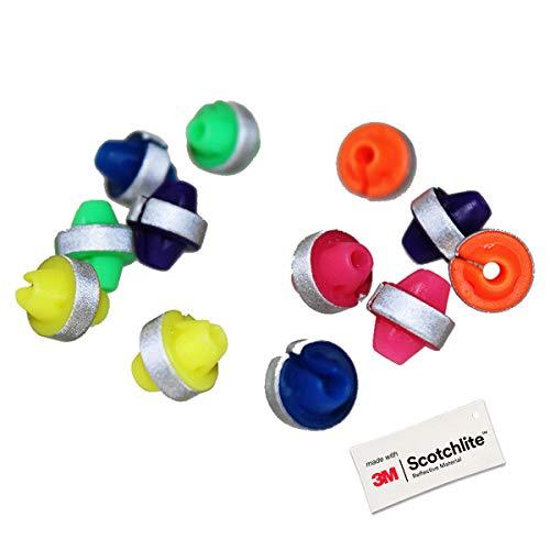 Salzmann 3M Reflektierende Speichenperlen | Bunte Speichenclips | Hergestellt mit 3M Scotchlite (36 Stück)