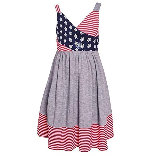 Bonnie Jean Girl's 4th of July Dress - Americana Sundress for Toddlers, Little and Big Girls (8)