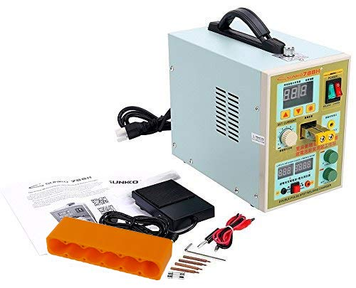 Sunkko 788H LED Dual Pulse Spot Welder for 18650 14500 battery 0.1-0.2 mm Strip