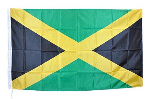 Jamaican Flag Flagge Jamaika Bob Marley Reggae Jamaika Neue cm 90x150Hohe Qualität Stoff Strapazierfähig