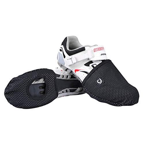 LIOOBO 1 par de Zapatos de Ciclismo Cubierta Zapatillas Invierno a Prueba de Viento Antideslizante protección cálida Media Bicicleta Reflectante Zapatillas de Deporte Accesorios Deportivos tamaño 42