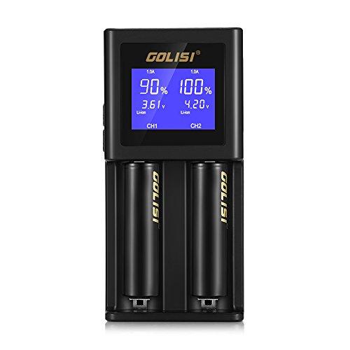 Ladegerät für Akkus S2 Ladegerät 2 Steckplätze Universal einstellbar mit LCD-Display, USB-Kabel, Li-ion, 18650/21700/26650/NiMh/NiCd/AAA/AA Quasi alle Arten von Batterien